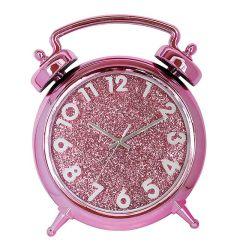 """14"""" de la conception de l'horloge d'alarme bleu étincelant Horloge murale à quartz de style européen"""