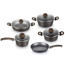 Insieme antiaderante di alluminio forgiato del Cookware