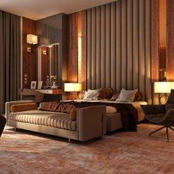 Construction moderne 5 étoiles dans l'hôtel Chambre à coucher pour la vente de meubles en bois