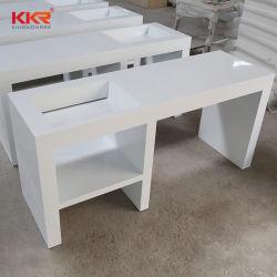 Pierre artificielle moderne Surface solide Lavabo Salle de bains blanche lavabo