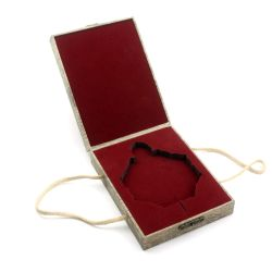 Et de bijoux en verre Crownwin Boîte en bois à l'emballage Logo personnalisé avec le ruban de verrouillage/coffret à bijoux musicale