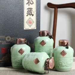 China Collector's Edition 1000ml botella de bebida espíritu de cerámica y puede