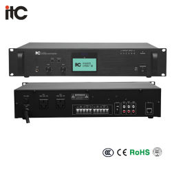 Itc T-7701の経済的なシリーズIPの可聴周波デコーダー、IPの可聴周波放送ターミナルラックマウントIPネットワーク音声のアダプター