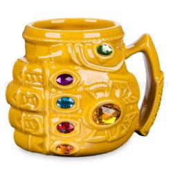 Regalos de Cumpleaños creativo OEM Puño de cerámica de diamantes de color taza de agua