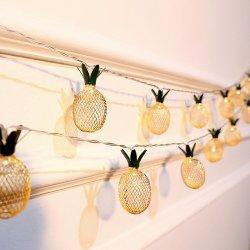 Оптовая торговля очаровательный металлические ананас строку для освещения