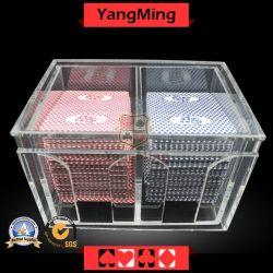 Spielender Schürhakenbaccarat-Ausschuss-Halter-Kasino-QualitätsacrylToke Absinken-Kasten für 8 Plattform-Spielkarten (YM-DH01)