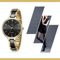 Les femmes montre-bracelet en céramique avec Crystal Stone Design (71034)