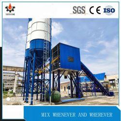 Equipos de construcción Enqineering planta mezcladora de concreto para la construcción (HZS25).