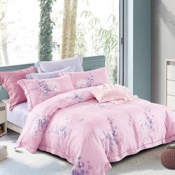100 % Tencel literie d'impression Ensemble couvercle de la Courtepointe Home Textile Linge de lit