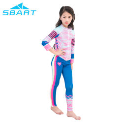Séchage rapide Protection UV à manchon long Kids Rash Guard