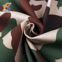65 35 poliéster Algodão Sarjado 3/1 120 x 60 20X16 Exército de fios uniforme militar de tecido de camuflagem