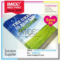Impressão de livro personalizado Softcover Imee Grampeado Grampeada vinculados de endereços
