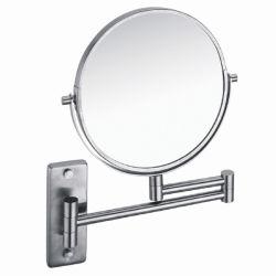 La moderna de doble cara redonda de 1X/3X CON LUPA Espejo de maquillaje con sus304 Marco, Bar y el giro de la Base de pared (5704)
