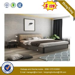 Fashion Mélamine MDF Hotel Chambre à coucher Meubles lit Queen Size (HX-9NG001)