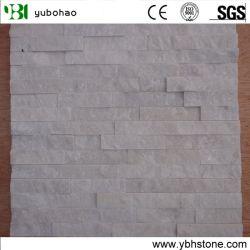 Peitoril natural revestimento de paredes de pedra, pilha de quartzito Branco/Cultura mosaico de pedra
