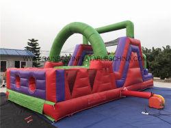 0,55 mm bâche en PVC Type de Matériel Cours de jeu gonflable obstacle
