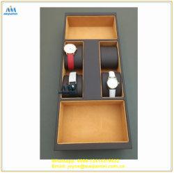 Bijoux bac configuré pour regarder Insert fabriqué du répartiteur principal MDF et le cuir