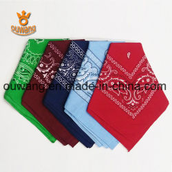 "Fashion Paisley mouchoir Magic multifonctionnelle Bandana "" 100% coton 22*22"" cadeau promotionnel personnalisé"