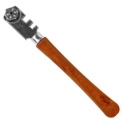 6 Колеса Деревянные рукоятки бит из карбида вольфрама стекло пластины режущего аппарата