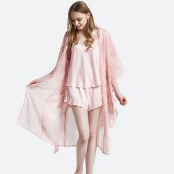 Mesdames de l'été Femmes ensembles Pyjama dentelle pyjama en Soie satin robe de nuit Vêtements de nuit de salon pour les femmes