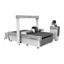 CNC CCD vibra de cuero de la hoja de alimentación automática de corte CNC Máquina de corte de cuchilla oscilante