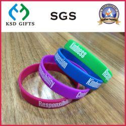 Commerce de gros Costom/Silicone Bracelets en Silicone (d'impression en relief KSD-821)