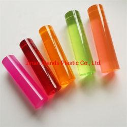 Le PMMA transparent de couleur de haute qualité tige en acrylique et le tube