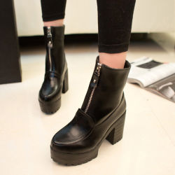 Мода латунные Boot молнией 7030