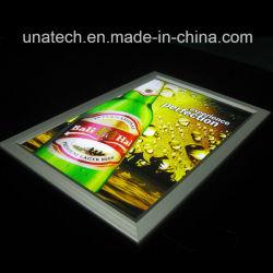 屋内広告のペーパーバックライトを当てられたフィルム媒体アクリルアルミニウムスナップ細いLEDの側光ボックス