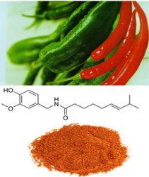 Capsaicin 95% van het Uittreksel van de Spaanse peper van 100% Natuurlijke