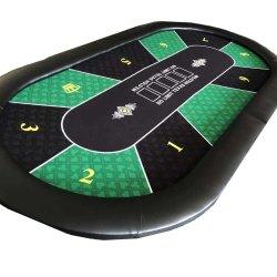 A dobragem Custom Poker Tampo da Mesa de pôquer com Racetrack Dobrável e jogo de pôquer Mem Verificar vender