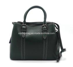 2019 новейший натуральная кожа женщин дамской сумочке темно-зеленого цвета с длинными регулируемый ремень
