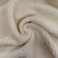 100% Polyester recyclé durable fausse fourrure polaire en peluche de pieu Sherpa courte la peau de mouton Knitting manteau enduire tissu