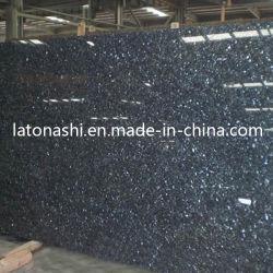 La pierre naturelle Blue Pearl pour les carreaux de granit, miroir de haut, ouvrant