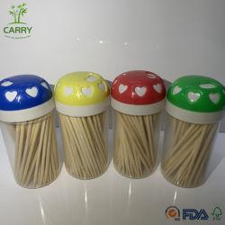Mayorista de fábrica de palillo de bambú palillo de dientes botella de plástico bolsas de