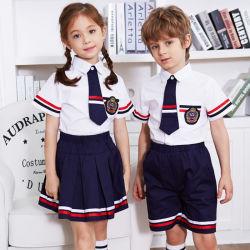 65% 면 35% 폴리에스테르 유치원 학교 유니폼 셔츠 스쿨 디자인(사진 포함