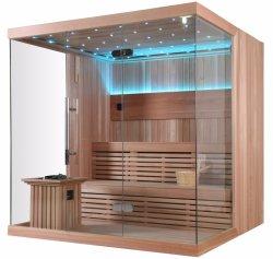 Camera facile di lusso di sauna dell'installazione del comitato di tocco chiaro di legno solido LED di stile (M-6042)