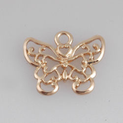 Acessórios de vestuário elegante pingente de borboleta