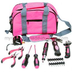 25PC Profssional Werkzeugkoffer-Dame-rosafarbener Hilfsmittel-Installationssatz (FY1025B1)