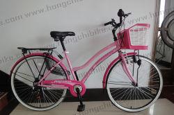 City Bicycle for Lady met mandje en achterdrager (HC-LB-41905)