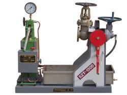 Testes de qualidade para as válvulas de segurança da máquina