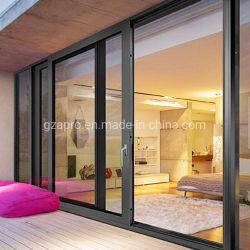 Grand lit double vitrage des portes coulissantes en verre trempé