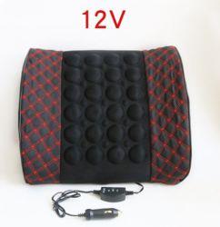 12V Support lombaire Massage universel de voiture Voiture électrique de vibrations double usage dosseret en cuir de fibres de la taille de dossier Pad Pad