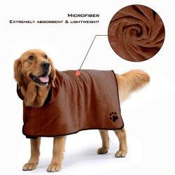 O grooming programável absorvente Mircofiber Quick-Dry Cão Gato roupão de banho por grosso de alimentação para animais de estimação