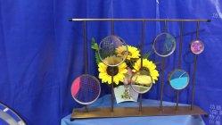 Schillernde überzogene Farben-dekorative Glashauptfertigkeit-Dekoration