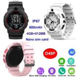 مورد المصنع - شبكة LTE رخيصة IP67 ------------------ جهاز تعقب Smart Watch Kids GPS Mobile Phone