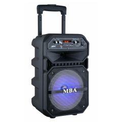 8-дюймовый караоке-Тележка АС с DJ фонари и беспроводной связи