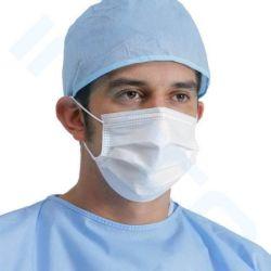 3 a gettare maneggiano il ciclo chirurgico medico blu protettivo dell'orecchio del CE & legano sopra & maschera di protezione di antivirus