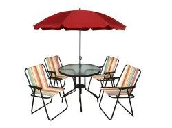 Table de jardin 6PCS Set chaise pliante Outdoor partie Dîner Président de Sun