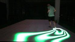 Fase sensibile video Dance Floor dello schermo delle mattonelle di pavimento del sistema interattivo del radar P5 P6.25 LED per il gioco i giochi o dell'evento di lusso